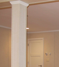 Easy Wrap column sleeves in Lexington basement
