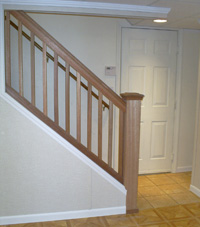 Renovated basement staircase in Manchester