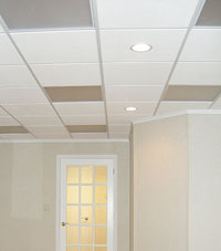 Basement Ceiling Tiles for a project we worked on in Derry, Massachusetts & New Hampshire
