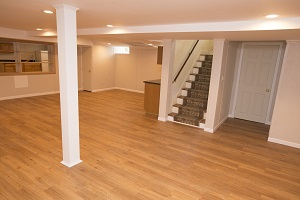 Total Basement Finishing system installed in Lowell