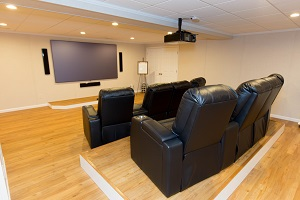 Basement theater installed in Cambridge