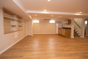 A beautiful, finished basement in Southeastern New Hampshire & Greater Boston